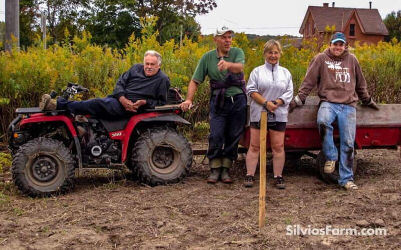 The Aronia Planting Crew at Silvio's Farm in Port Perry ON Canada - 30 Min North of Hwy 401 Exit 410 Brock St