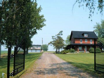 Gates at Silvio's Aronia Farm in Port Perry ON Canada