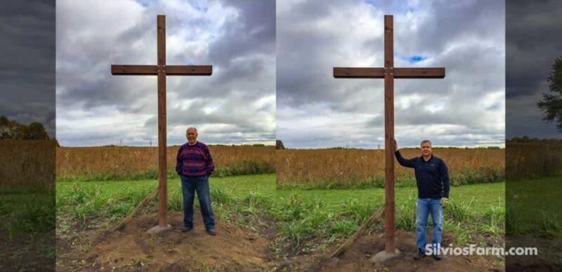 Cross at Silvio's Aronia Farm in Port Perry ON Canada