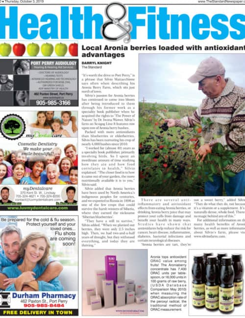 The Standard Newspaper Article About Silvio's Farm in Port Perry ON Canada